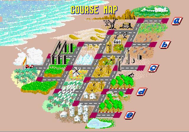 OutRun course map (arcade)