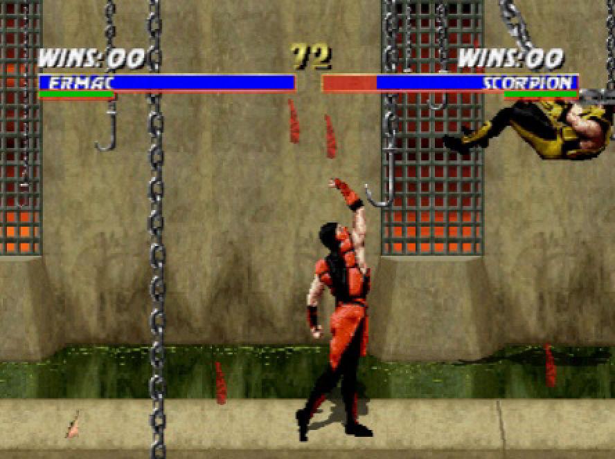 Ermac vs Scorpion na jednom od poznatijih stage-ova iz Mortal Kombat-a II