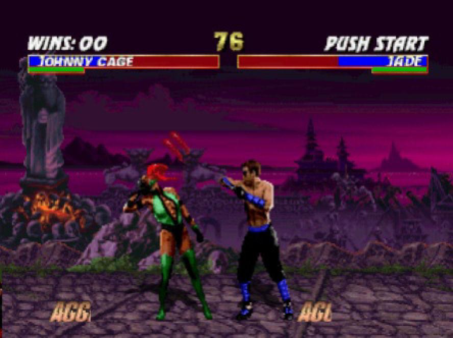 Jade vs Johnny Cage, aggressor skala se polako puni...