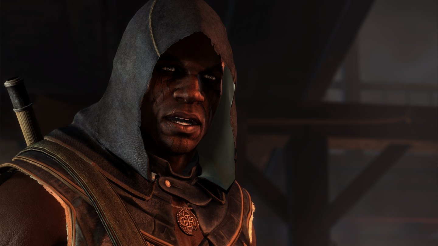 Adewale with an Assassin hood… What could that mean… oh wait