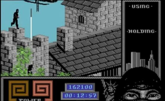 """Skakačka deonica koja igrača tera da razbije džojstik od zid. Nivo """"The Mansion"""""""
