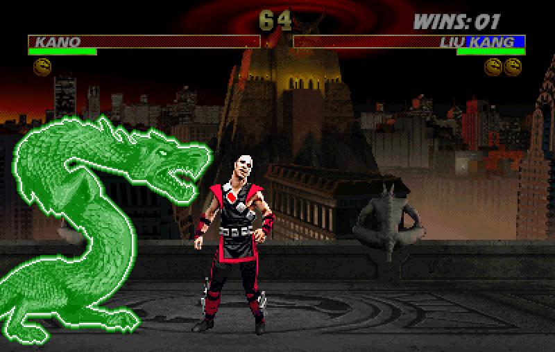 Legendarni Dragon fatality (ovoga puta kao animality) - šteta što izgleda lošije nego u MK II zbog nemarnosti programera