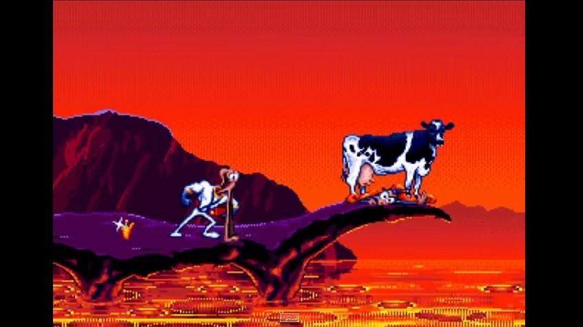 Pre nego što je smoždi krava koju ste lansirali na početku igre.
